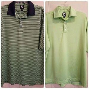 Footjoy Lot of 2 Polo Golf Shirts